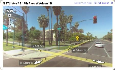 Phoenix in Google Maps StreetView Ansicht