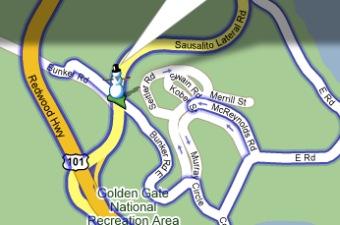 Schneemann als Google Maps StreetView Männchen