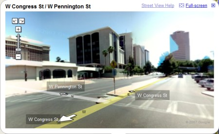 Tucson in Google Maps StreetView Ansicht
