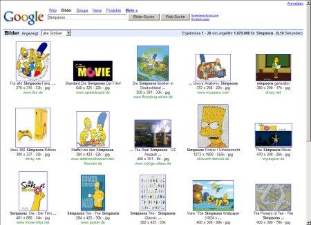 Simpsons Bilder Suche in Google Images