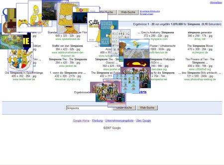 Simpsons Bilder Suche mit fliegenden Google Images