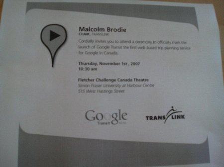 Google Transit Start für Kanada angekündigt