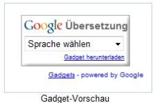 Google Translate Gadget zum übersetzen für die eigene Webseite