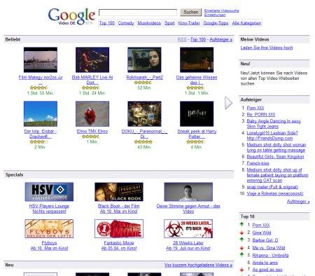 Google Video - Videosuchmaschine