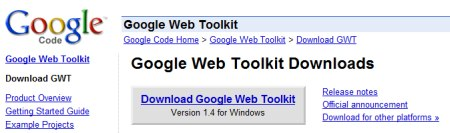 Google Webtool Kit
