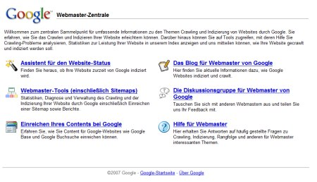 Google Webmaster Zentrale