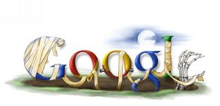Google Doodle zum Halloween Fest 2006