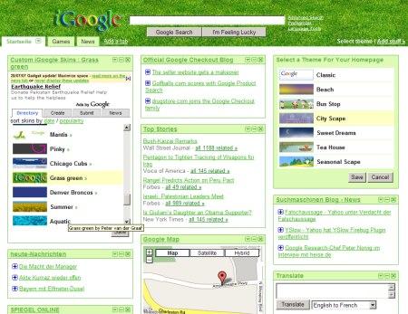 Grasgrün - iGoogle Skins Grasgrün