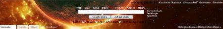 iGoogle Theme Sonnensystem