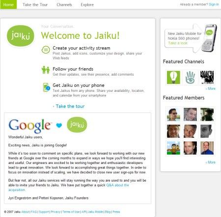 Jaiku - Active Streaming
