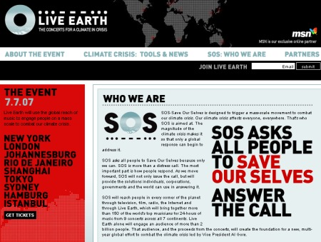 Live Earth Project - Save Our Selves