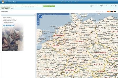 Microsoft Live Search Maps für Deutschland