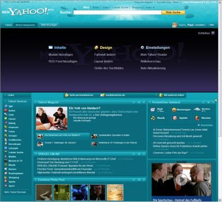 Mein Yahoo! - Liquid Wasser Design