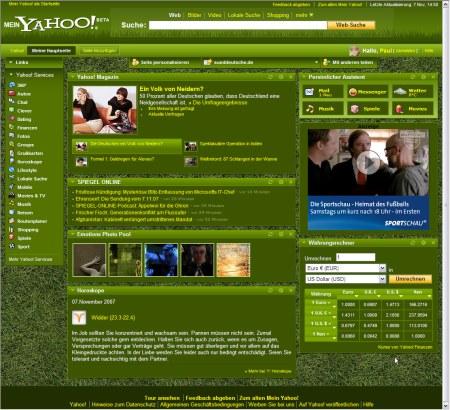 Mein Yahoo! - Grüne Wiese Design