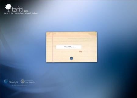 Tafiti - Microsoft Suchmaschine