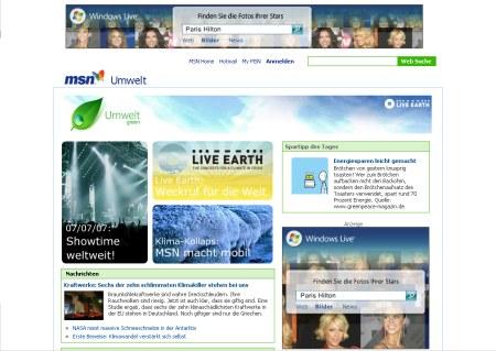 Microsoft Live Earth Special Klimawandel