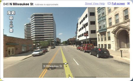 Milwaukee in Google Maps StreetView