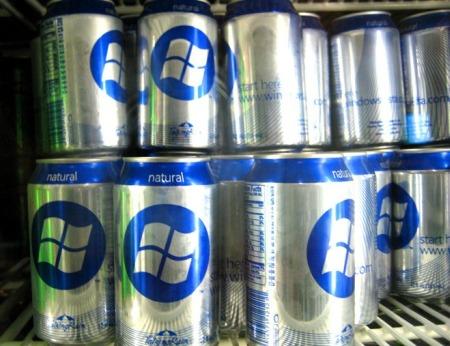 Mineralwasser - Mineralwasser mit Microsoft Zeichen drauf