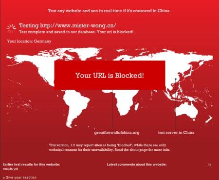 chinesische Mister Wong Version - in China zensiert und geblockt