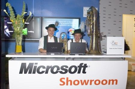 Microsoft Showroom Digital Lifestyle - Besuch der Künstler von Bayern Extrem