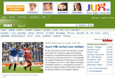 Champions League Ergebnisse, Tabellen und Berichte im MSN Sport Channel von Kicker.de