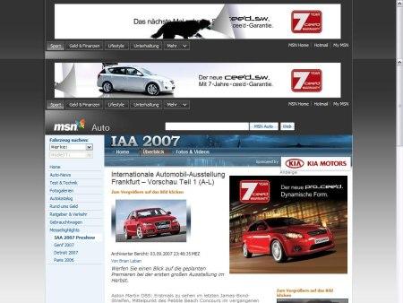 IAA 2007 Special im MSN Auto Channel