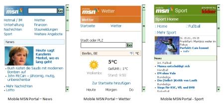 MSN Mobile Portal