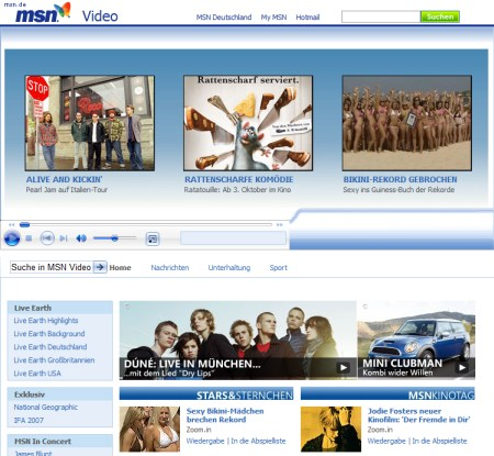 MSN Video Channel