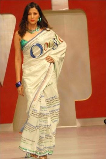 Oogle Sari - Google Mode Fashion von Satya Paul