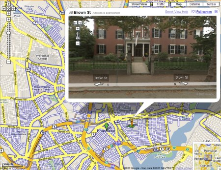 Google Maps StreetView: Providence