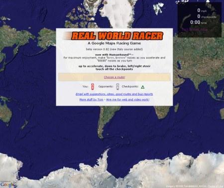 Google Maps Autorennen: Real World Racer