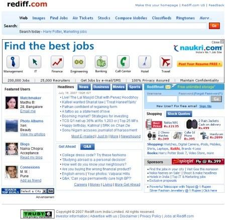 Rediff.com - Indian Web-Portal