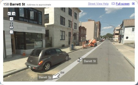 Schenectady in Google Maps StreetView