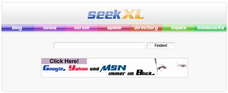 Suchmaschine - seekXL Suchmaschine aus Berlin