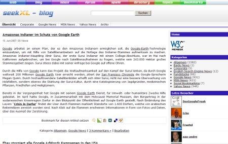 Suchmaschinen Blog mit Suchmaschinen News zu Google, Yahoo, MSN, Baidu und Web 2.0 relevanten Themen.