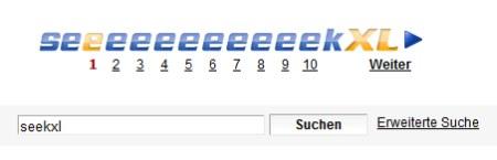 Suchmaschine seekXL mit dynamisch sich anpassenden E