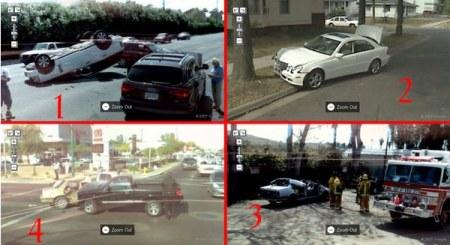 Autounfälle auf Google Maps Street View