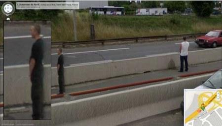 Notgeschäft auf der Autobahn - Google Street View ist immer dabei und bietet Dir auch verschiedene Perspektiven zur Ansicht