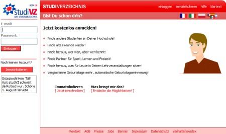 studiVZ - Das Studenten Netzwerk
