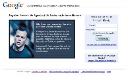 Ultimative Suche nach Bourne mit Google