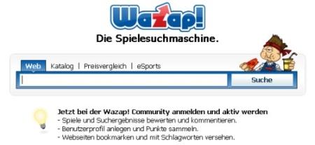Wazap! Spiele Suchmaschine