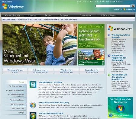 Microsoft Windows Vista Deutschland