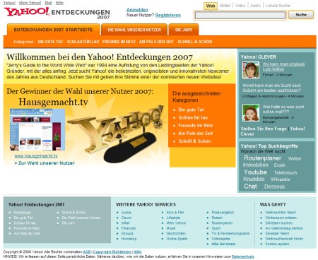 Yahoo Entdeckungen 2007