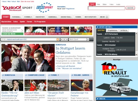 Yahoo! Eurosport Portal für Deutschland