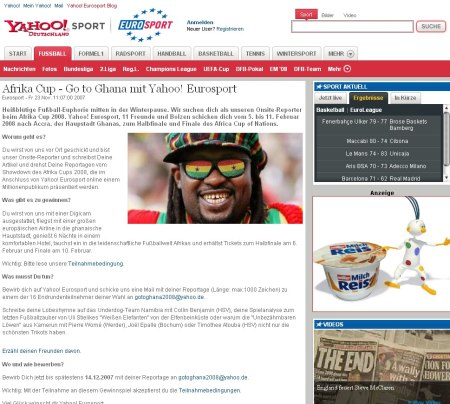 Yahoo! Eurosport - Africa Cup 2008
