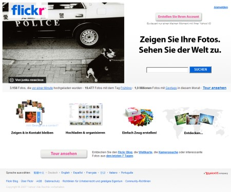 Flickr Online Foto Hosting Service