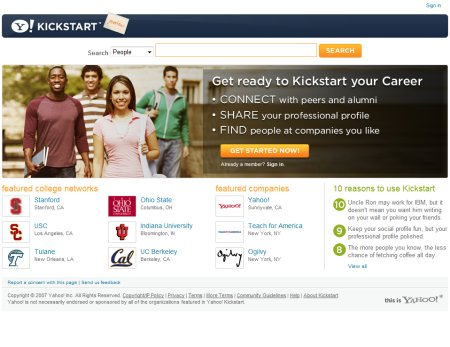Yahoo! Kickstart - Kickstart your career with Yahoo!