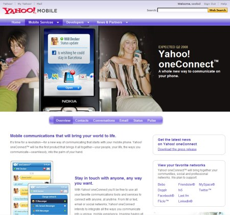 Yahoo oneConnect