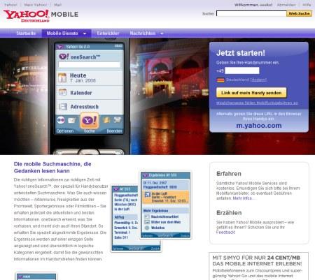 Yahoo Mobile: Yahoo OneSearch
