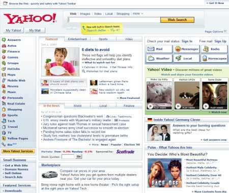 Yahoo Suche 2.0